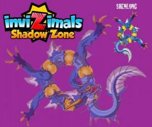 Shenlong. Invizimals Shadow Zone. The powerful spirit of the emperor who did build the Great Wall of China puzzle
