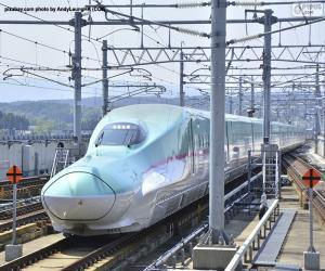 Shinkansen bullet train, Japan puzzle