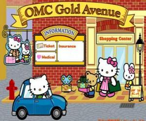 Shopping day with Hello Kitty and friends puzzle