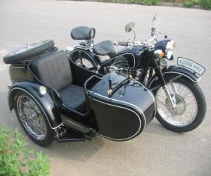 Sidecar a three-wheeled vehicle puzzle