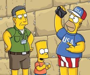 Simpson family visit Jerusalem puzzle