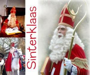 Sinterklaas. St. Nicholas brings gifts to children in the Netherlands, Belgium and other Central European countries puzzle