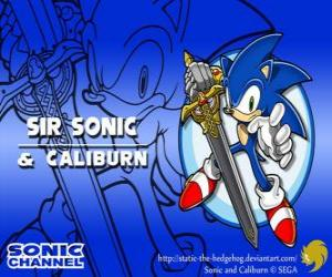 Sir Sonic, Sonic with the sword of a knight puzzle