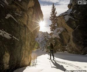Ski touring puzzle