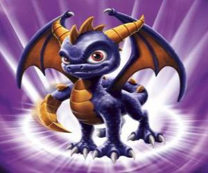 Skylander Spyro, the dragon is a formidable adversary that can fly and shoot fire from the mouth. Magic Skylanders puzzle
