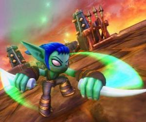 Skylander Stealth Elf, the ninja warrior. Life Skylanders puzzle