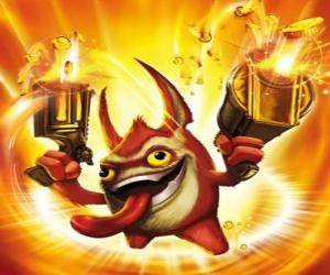 Skylander Trigger Happy, the king of the trigger. Tech Skylanders puzzle
