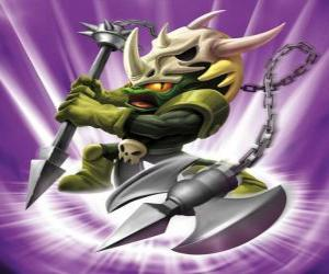 Skylander Voodood, brave warrior. Magic Skylanders puzzle