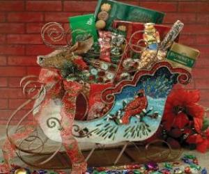 Sleigh full of Christmas presents puzzle