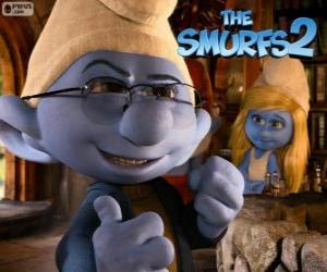 Smurfette and Brainy Smurf puzzle