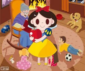 Snow White with the poisoned apple puzzle