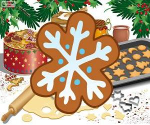Snowflake biscuit puzzle