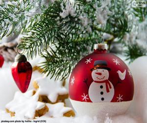 Snowman ball puzzle
