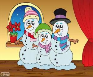 Snowmen family puzzle