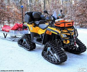 Snowmobile of rescue puzzle