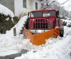 Snowplow doing their job puzzle