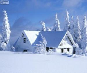 Snowy house puzzle