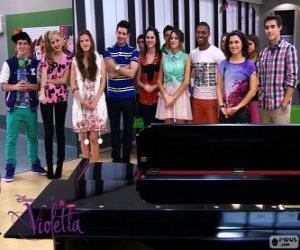 Some of the characters of Violetta 2 puzzle