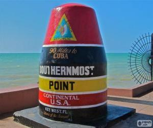 Southernmost Point,  Key West, Florida, United States puzzle