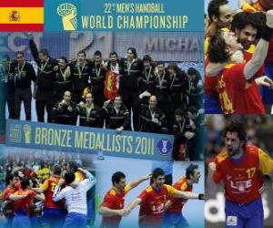 Spain Bronze medal at the 2011 World Handball puzzle