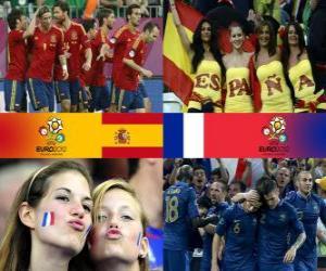 Spain - France, quarter-finals, Euro 2012 puzzle