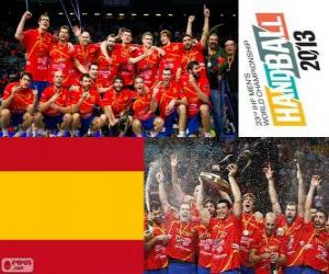 Spain gold medal at the World Cup in handball 2013 puzzle
