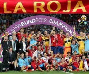 Spain, UEFA EURO 2012 Champion puzzle
