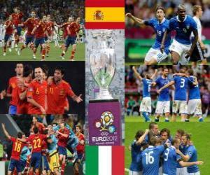 Spain vs Italy. Euro 2012 Final puzzle