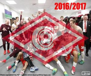 Spartak Moscow, 2016-2017 champion puzzle