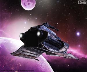 Special ship for the space puzzle