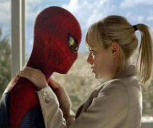 Spider-Man along with Gwen Stacy puzzle