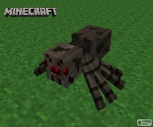 Spider, one of the creatures of Minecraft puzzle