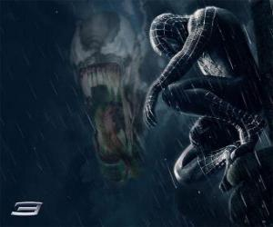 Spiderman Venom shares with many of his powers and abilities puzzle