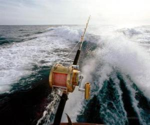 Sport fishing boat. puzzle