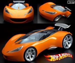 Sports car Hot Wheels puzzle