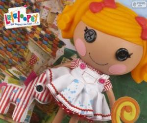 Spot Splatter Splash Lalaloopsy with her pet, a zebra puzzle