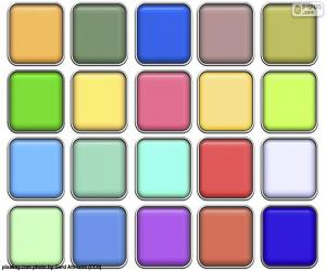 Squares of colors puzzle