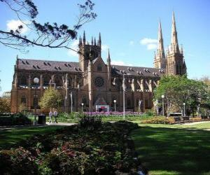 St Mary's Cathedral, Sydney, Australia puzzle