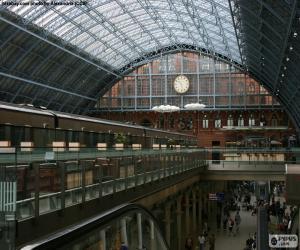 St Pancras railway station, London puzzle