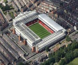 Stadium of Liverpool F.C. - Anfield - puzzle
