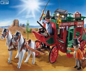 Stagecoach of Playmobil puzzle
