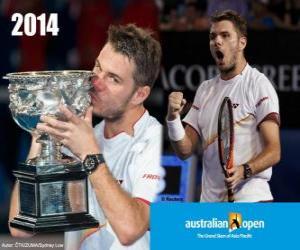 Stanislas Wawrinka 2014 Australian Open Champion puzzle