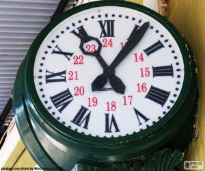 Station clock puzzle