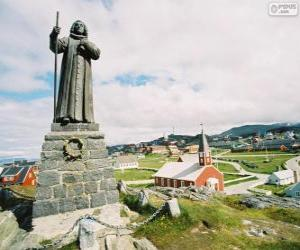 Statue of Hans Egede, Nuuk, Greenland puzzle