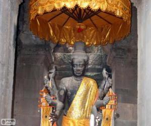 Statue of Vishnu, Angkor Wat, Cambodia puzzle