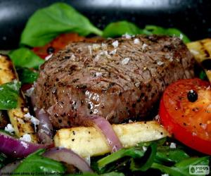 Steak grilled puzzle