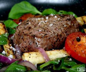 Steak grilled puzzle