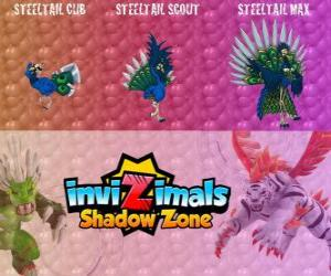 Steeltail Max. Invizimals Shadow Zone. Spectacular bird, its tail is a powerful weapon made of steel feathers puzzle