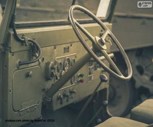 Steering wheel of a Jeep Willys puzzle