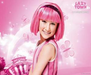 Stephanie from LazyTown puzzle